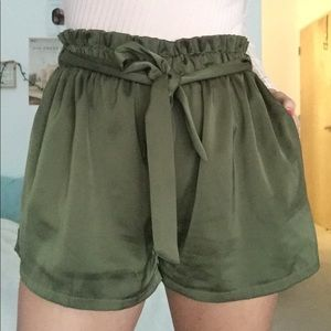 High Waisted Tied Shorts